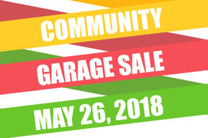 Community Garage Sale 2018